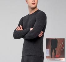Термоджемпер-термофутболка мужская с шерстью 50% Hetta MT10 L sagnei