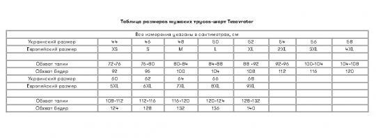 Трусы-шорты мужские Tezavrator МШ 950101 52 черные
